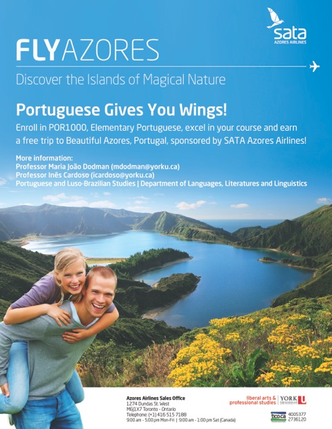Portuguese and Luso-Brazilian Studies and SATA, Azores Airlines